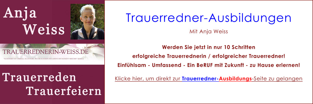DelphinTV - Anja Weiss - Trauerredner-Ausbildung Trauerredner-Seminar